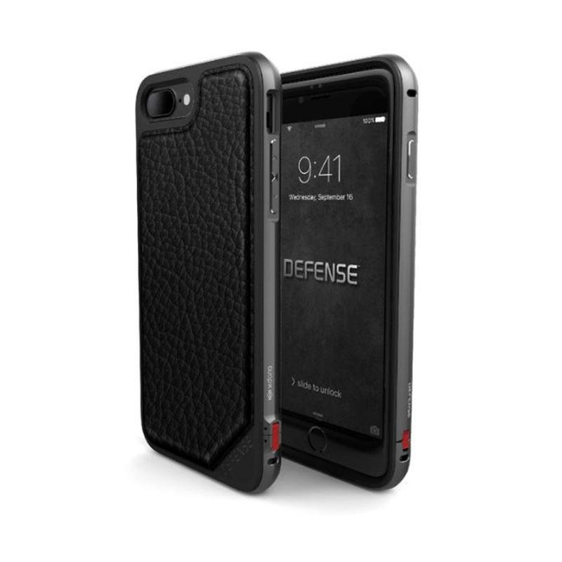 iPhone 7 Plus X-doria奢華刀鋒系列保護殼 黑荔枝紋