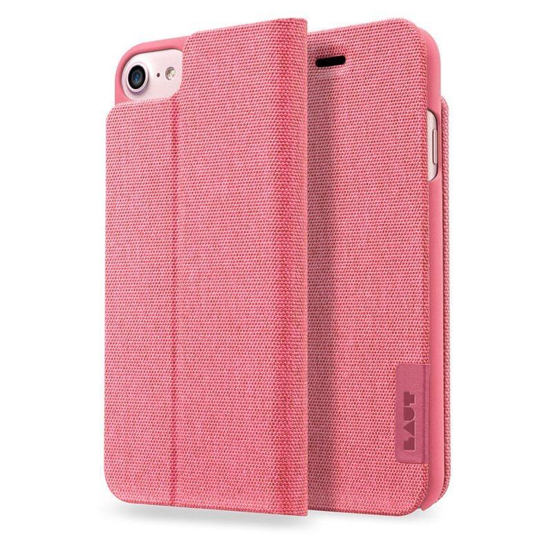 LAUT APEX-KNIT系列皮套 iPhone7 珊瑚紅
