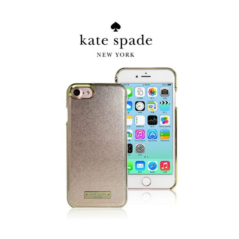 Kate Spade iPhone7 精典皮革保護殼 粉