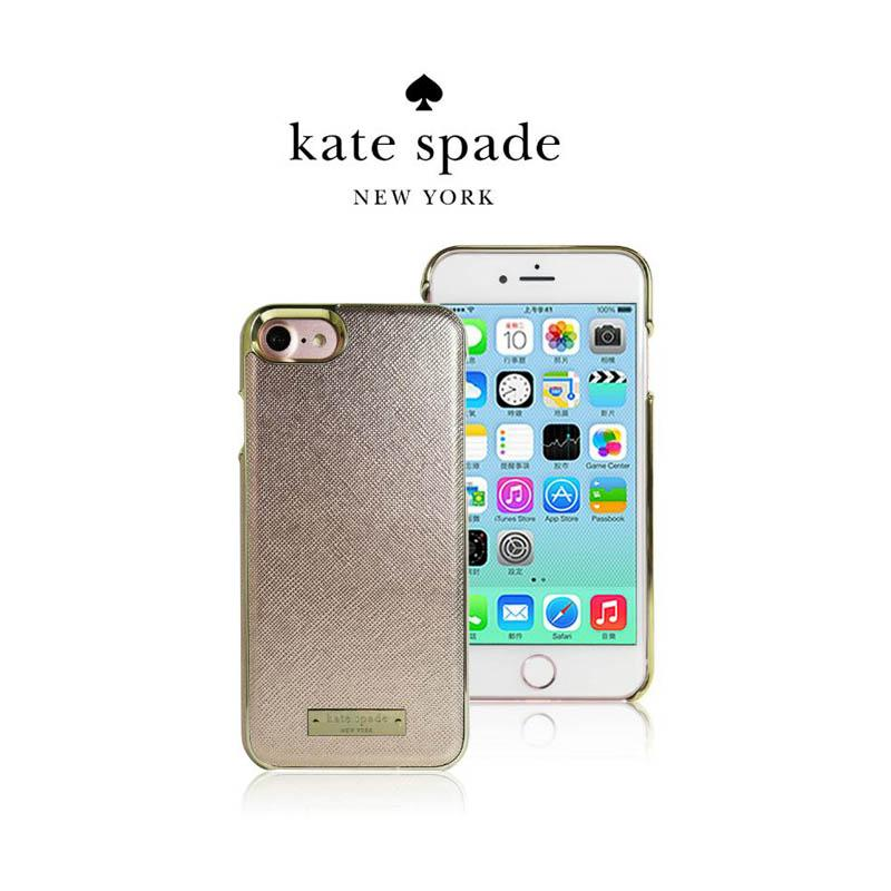 Kate Spade 精典皮革保護殼 玫瑰金 iPhone7