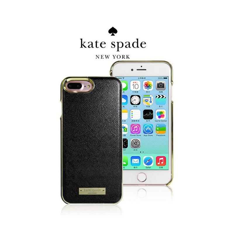 Kate Spade 精典皮革保護殼 黑 iPhone7 Plus