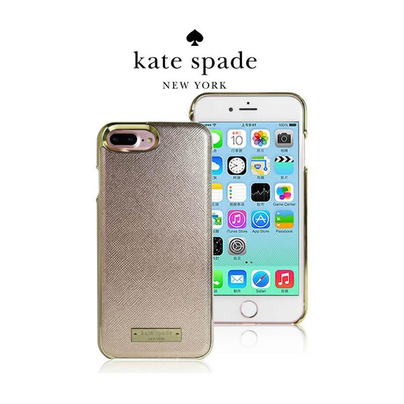 Kate Spade 精典皮革保護殼 玫瑰金 iPhone7 Plus