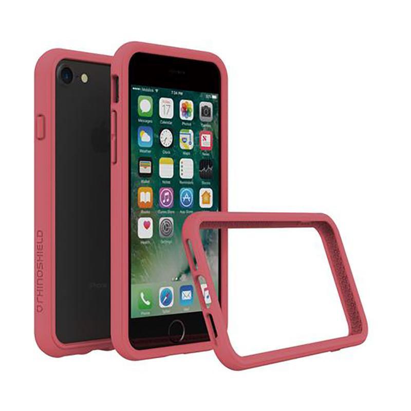 犀牛盾 iPhone 7 防摔邊框殼 ⼭茶紅
