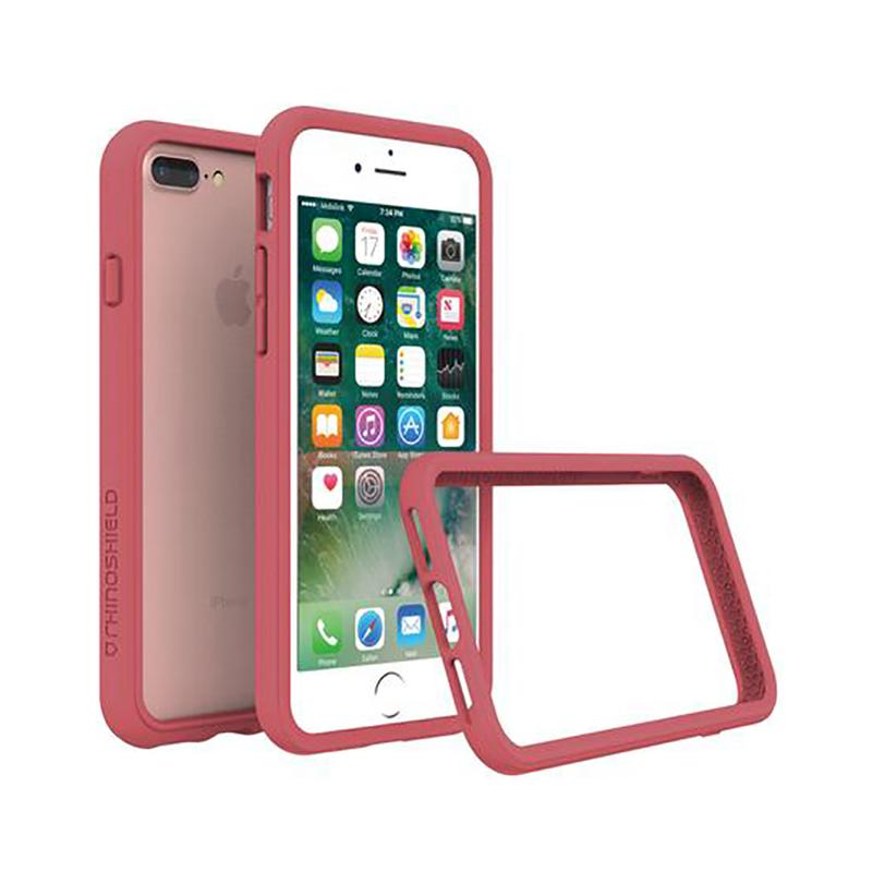犀牛盾 iPhone 7 Plus防摔邊框殼 ⼭茶紅