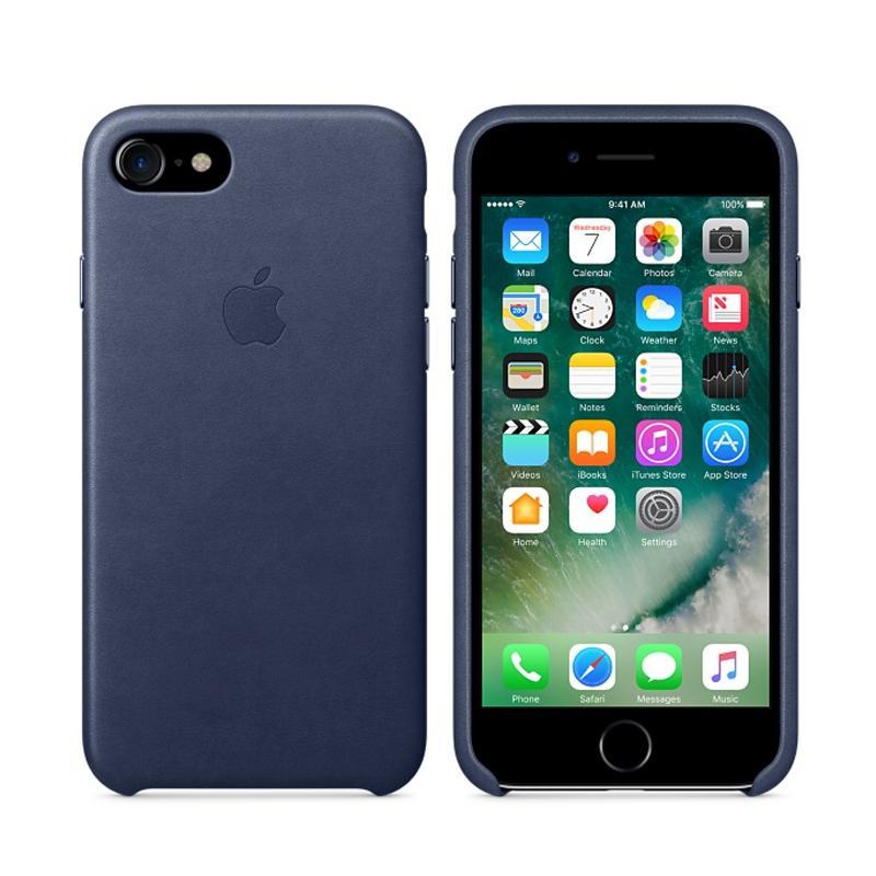 Apple 原廠皮革護套 午夜藍 iPhone 7