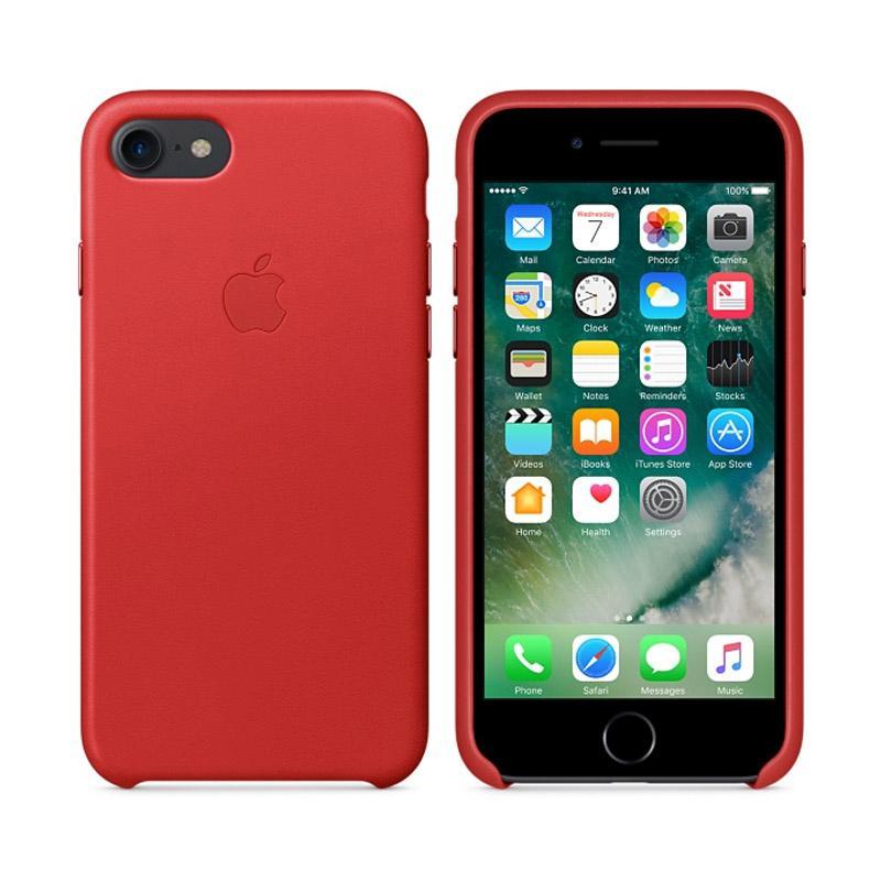 Apple原廠皮革護套 紅 iPhone 7 Plus