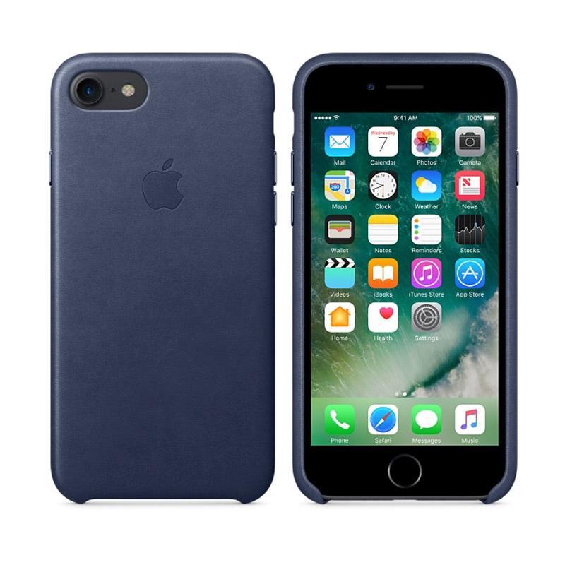 Apple原廠皮革護套 午夜藍 iPhone 7 Plus