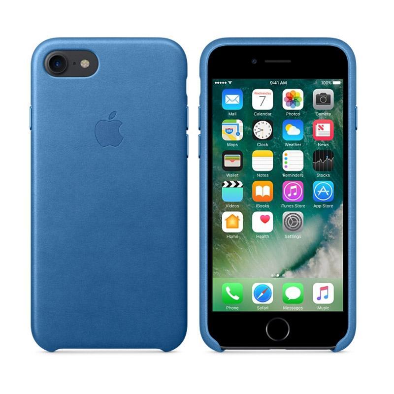 Apple原廠皮革護套 冰海藍 iPhone 7 Plus