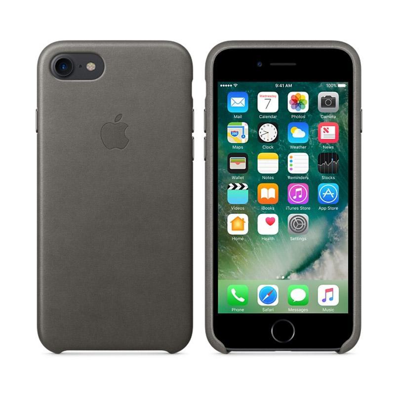 Apple原廠皮革護套 風雲灰 iPhone 7 Plus