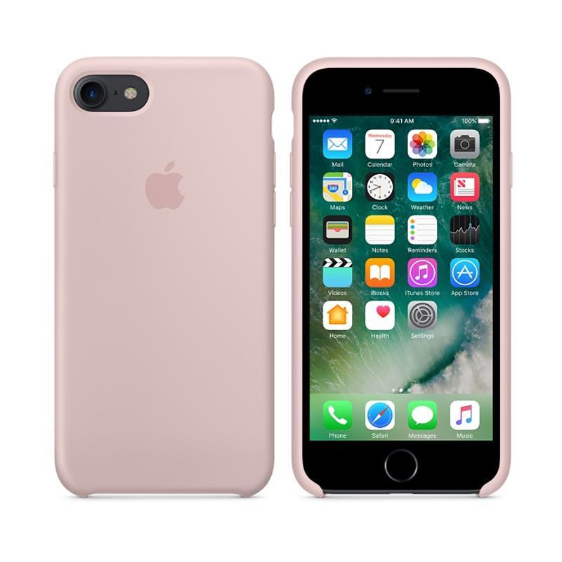 Apple 原廠矽膠護套 粉沙色 iPhone 7