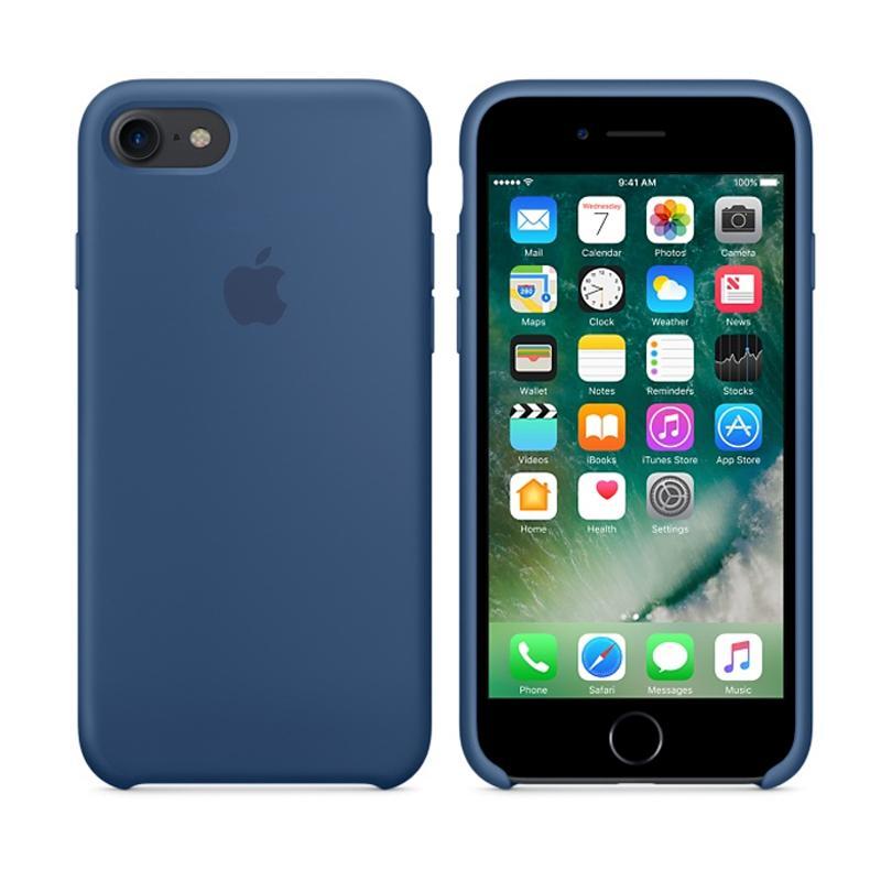 APPLE原廠 矽膠護套 海藍色 iPhone 7