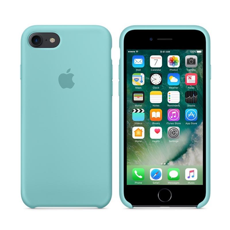 Apple 原廠矽膠護套 冰海藍 iPhone 7