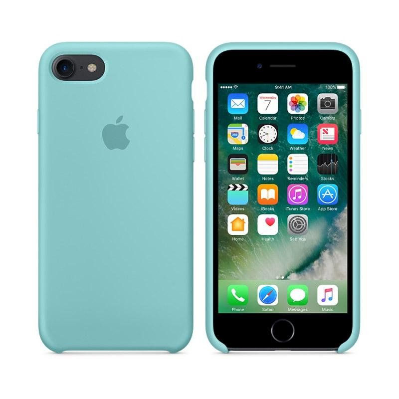 Apple原廠矽膠護套 冰海藍 iPhone 7 Plus