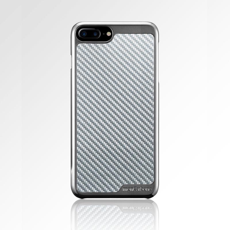 KHROME iPhone 7 / iPhone 8 碳纖維保護殼 鉻合金/碳纖銀