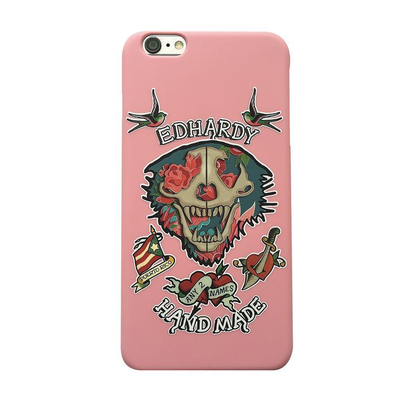 ED HARDY iPhone7 手機殼-玫瑰骷髏