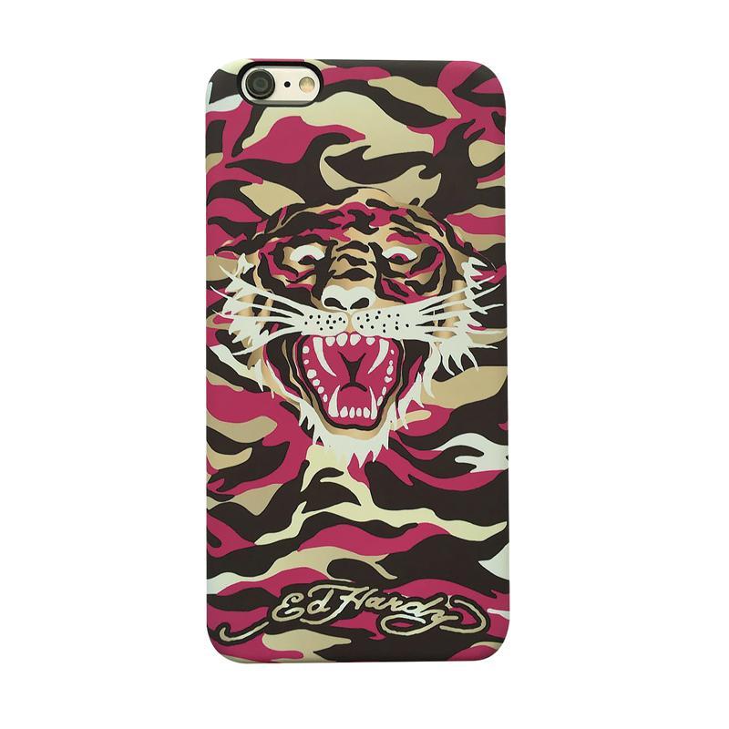 ED HARDY iPhone7 手機殼-粉紅迷彩