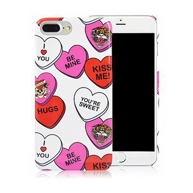ED HARDY iPhone7 Plus 手機殼- 心心相印
