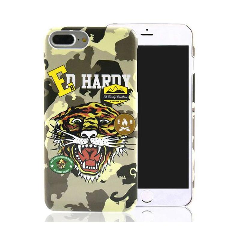 ED HARDY iPhone7 Plus 手機殼- 趣味迷彩老虎