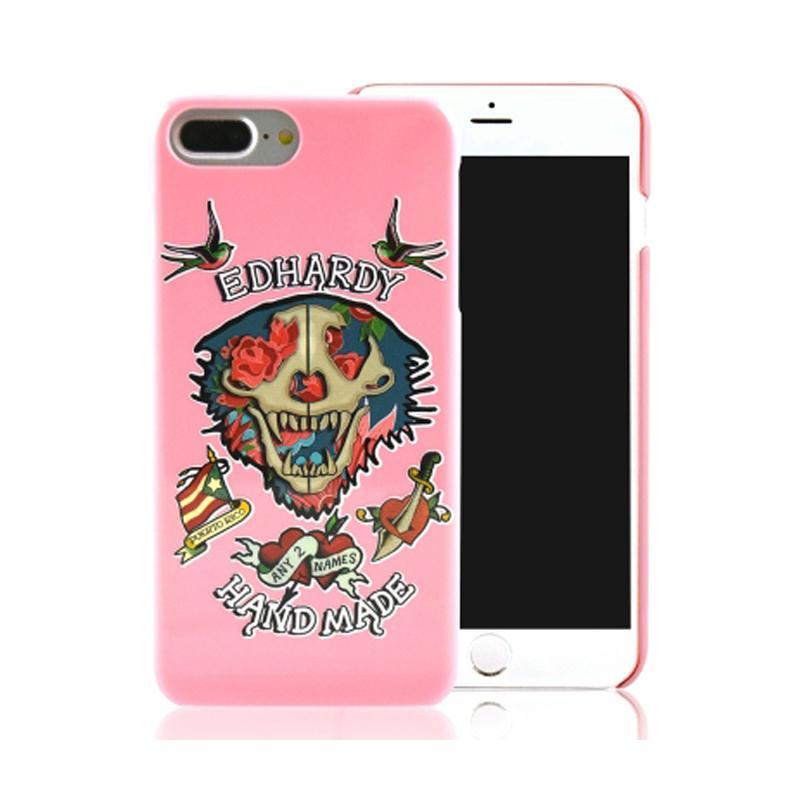 ED HARDY iPhone7 Plus 手機殼- 玫瑰骷髏