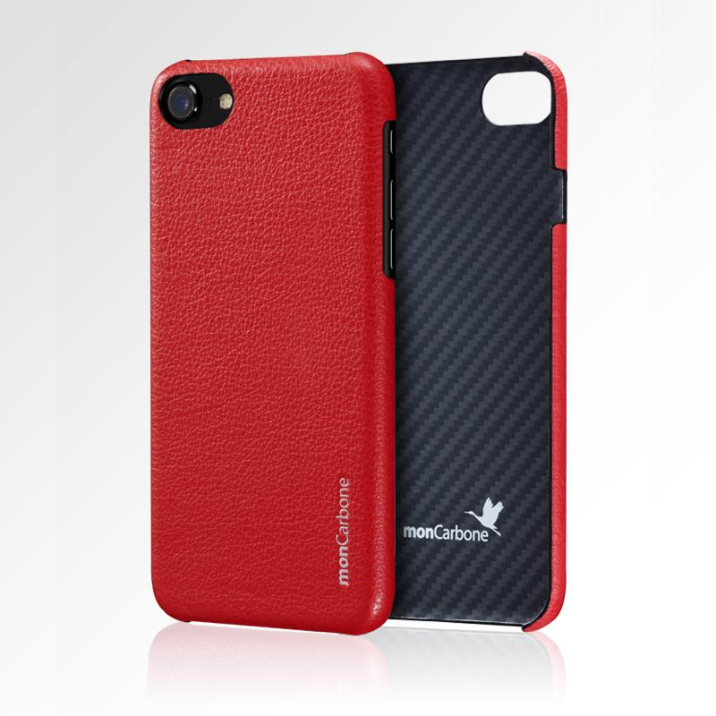 HOVERSKIN iPhone 7 / iPhone 8 防彈纖維結合Napa皮革保護殼 紅