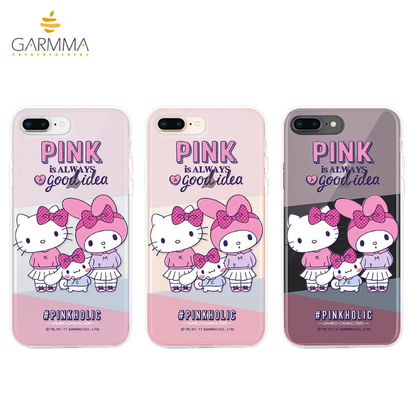 Hello Kitty*My Melody 保護軟殼iPhone8/7 友情卡片