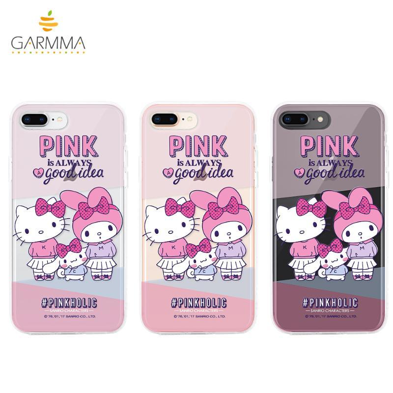 Hello Kitty*My Melody 保護軟殼iPhone8 Plus/7 Plus友情卡片