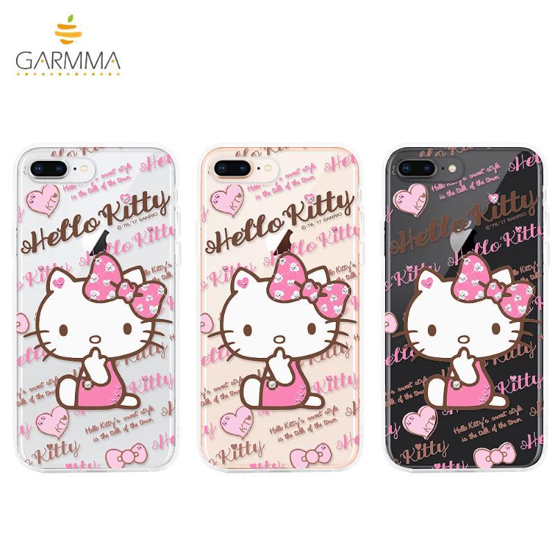 Hello Kitty 貼鑽保護軟殼iPhone8 Plus/7 Plus 嘟嘴