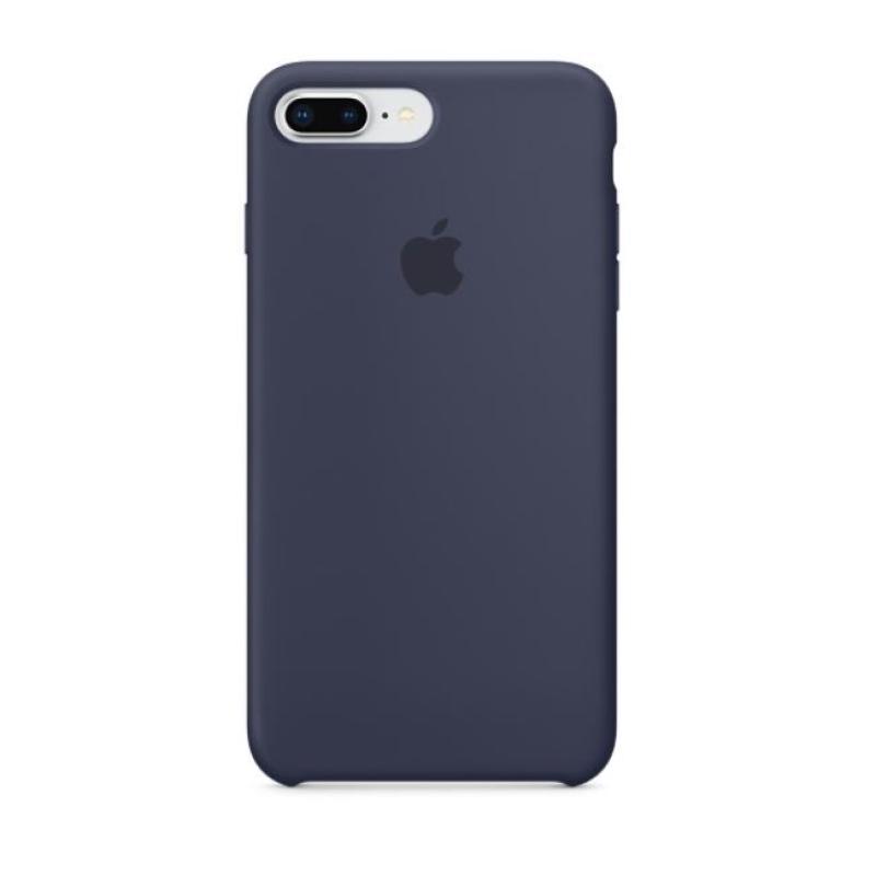 APPLE原廠 iPhone8 Plus/7Plus 矽膠護套 午夜藍