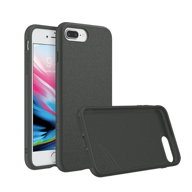 犀牛盾iPhone8 Plus/iPhone7 Plus SolidSuit 防摔手機殼 泥灰/超細纖