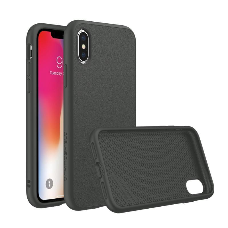 犀牛盾iPhoneX SolidSuit 防摔手機殼 泥灰/超細纖