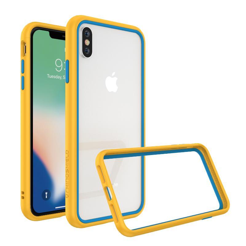 犀牛盾 CrashGuard NX防摔邊框 iPhoneXs Max黃藍撞色