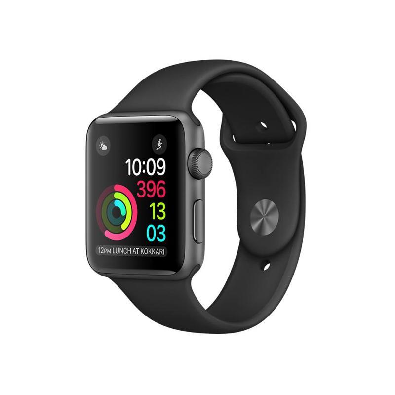 Apple Watch S2 38mm 太空灰色鋁金屬 黑色運動錶帶