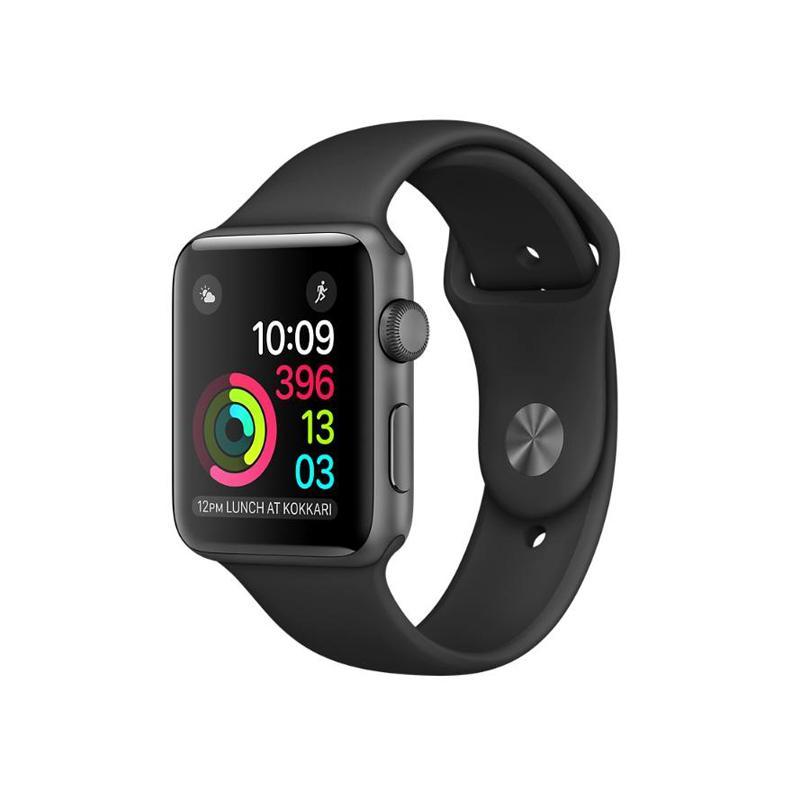 Apple Watch S2 42mm 太空灰色鋁金屬 黑色運動錶帶