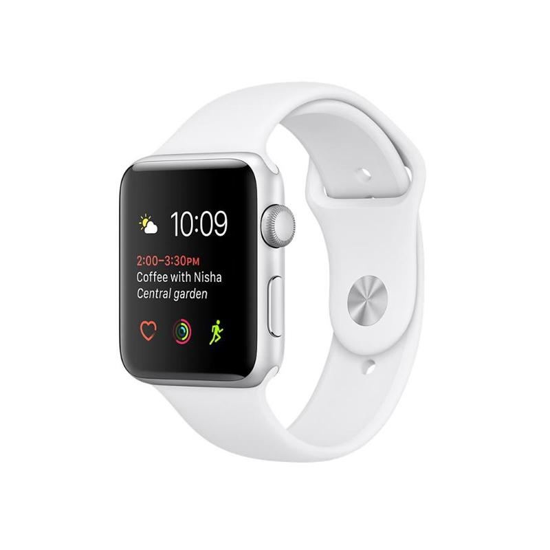 Apple Watch S2 42mm 銀色鋁金屬 白色運動錶帶