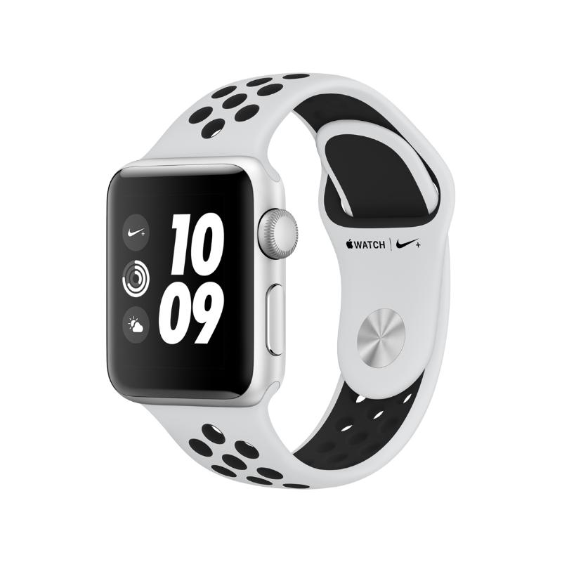 Apple Watch Series 3 GPS 38mm 銀色鋁金屬-Nike-運動型錶帶