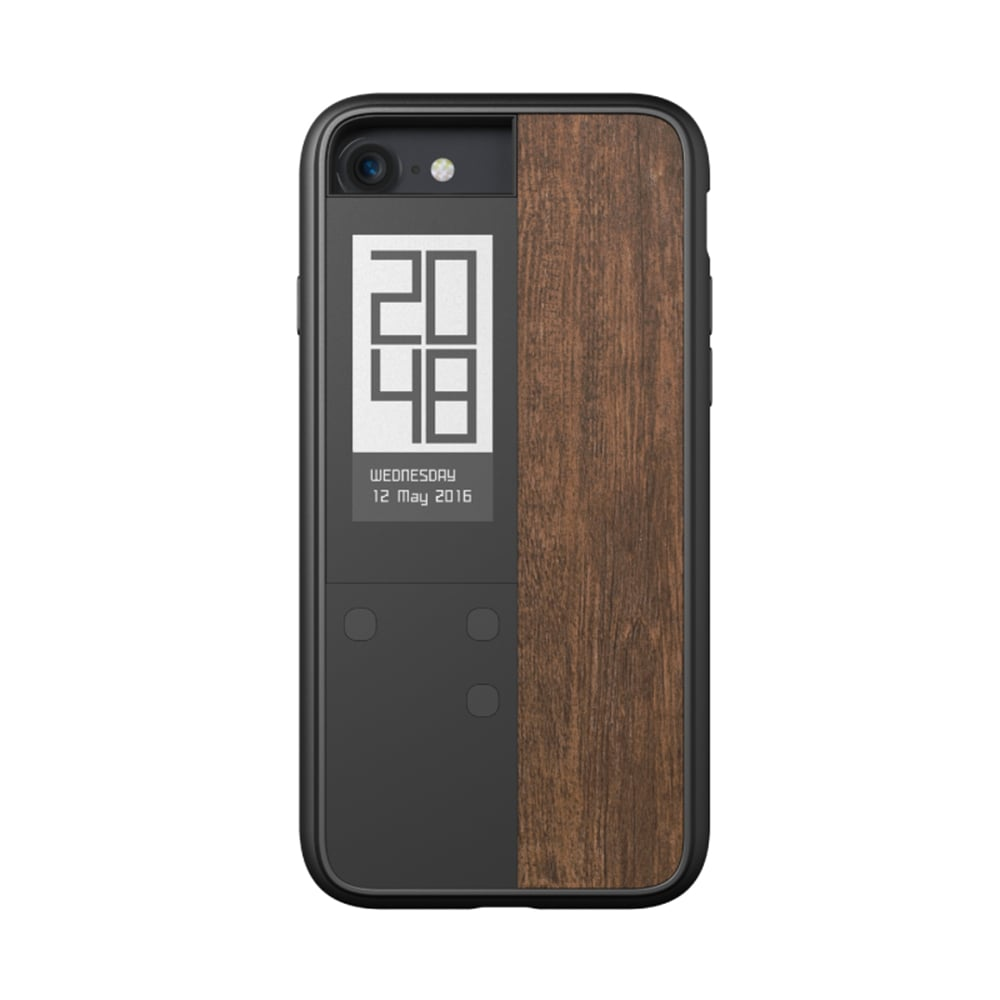 【OAXIS】Ink case IVY 雙螢幕手機殼 for iPhone7 - 紫檀木紋