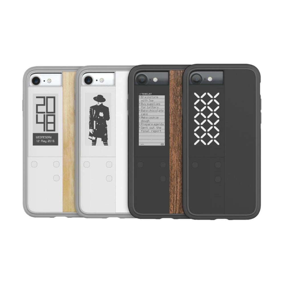 【OAXIS】Ink case IVY 雙螢幕手機殼 for iPhone7 - 黑色