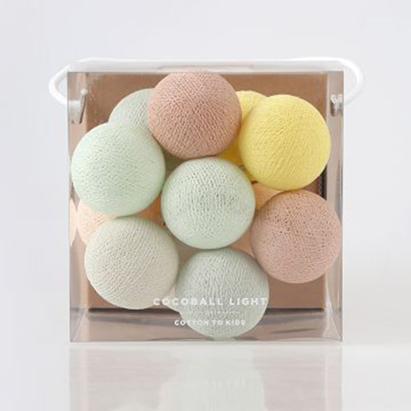 【韓國 Cotton to Kids】Mini Cocoball LED氣氛棉球燈串 (Urban Pastel)