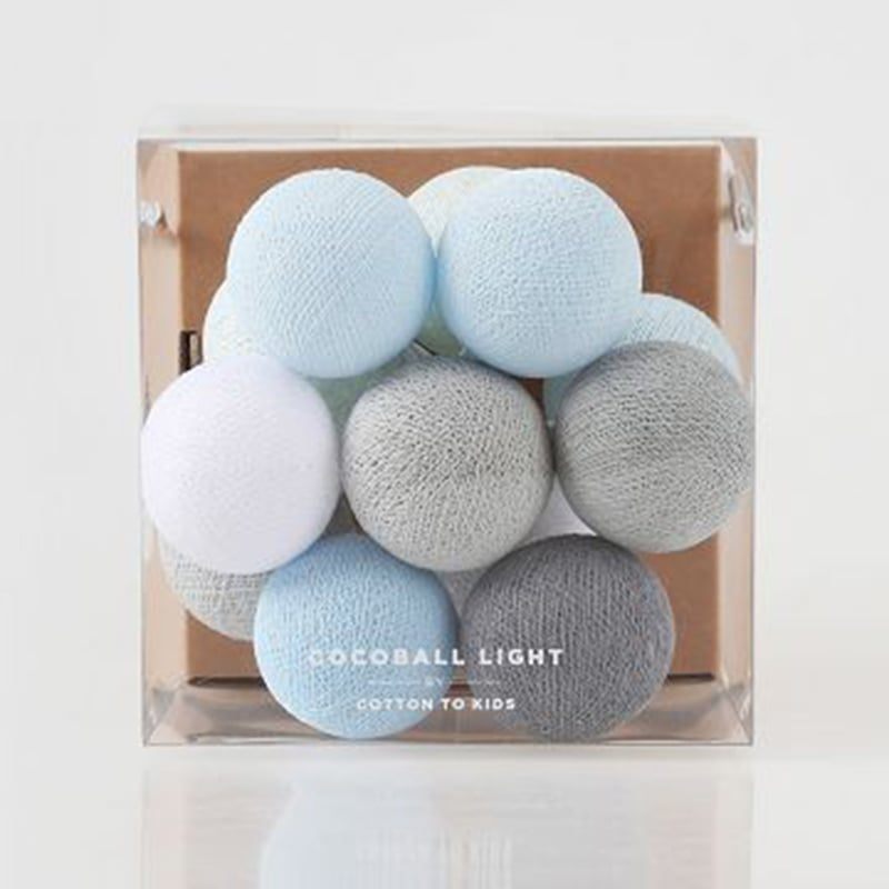 【韓國 Cotton to Kids】Mini Cocoball LED氣氛棉球燈串 (baby blue)