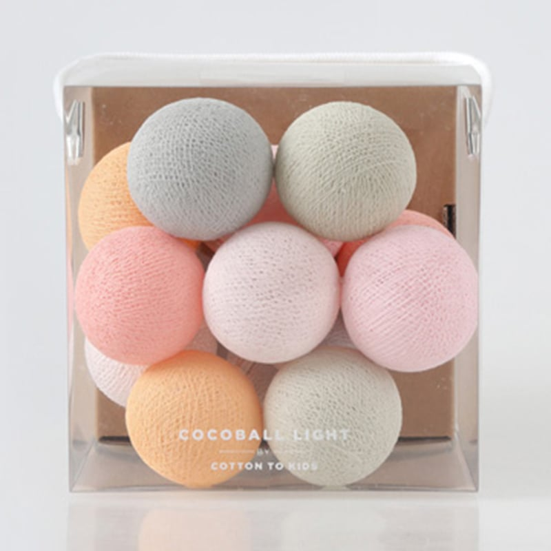 【韓國 Cotton to Kids】Mini Cocoball LED氣氛棉球燈串 (Romance)