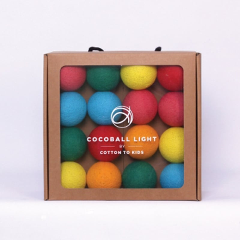 【韓國 Cotton to Kids】Cocoball LED氣氛棉球燈串 (lollipop)