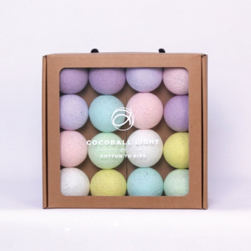【韓國 Cotton to Kids】Cocoball LED氣氛棉球燈串(baby pastel)