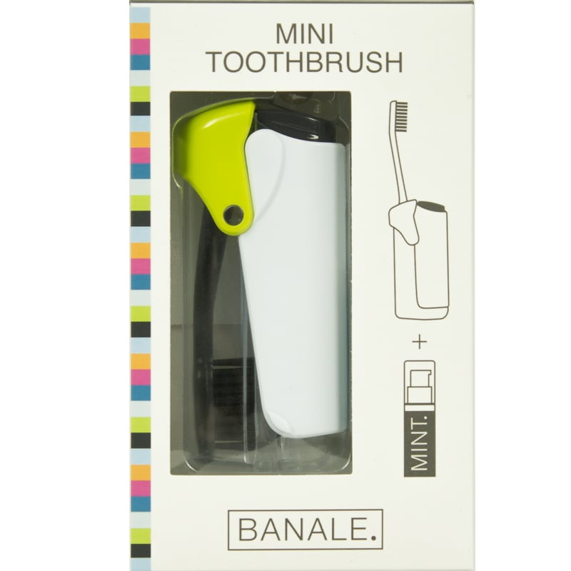 【義大利BANALE】MINI TOOTHBRUSH 隨身旅用牙刷組 (透明&Green)