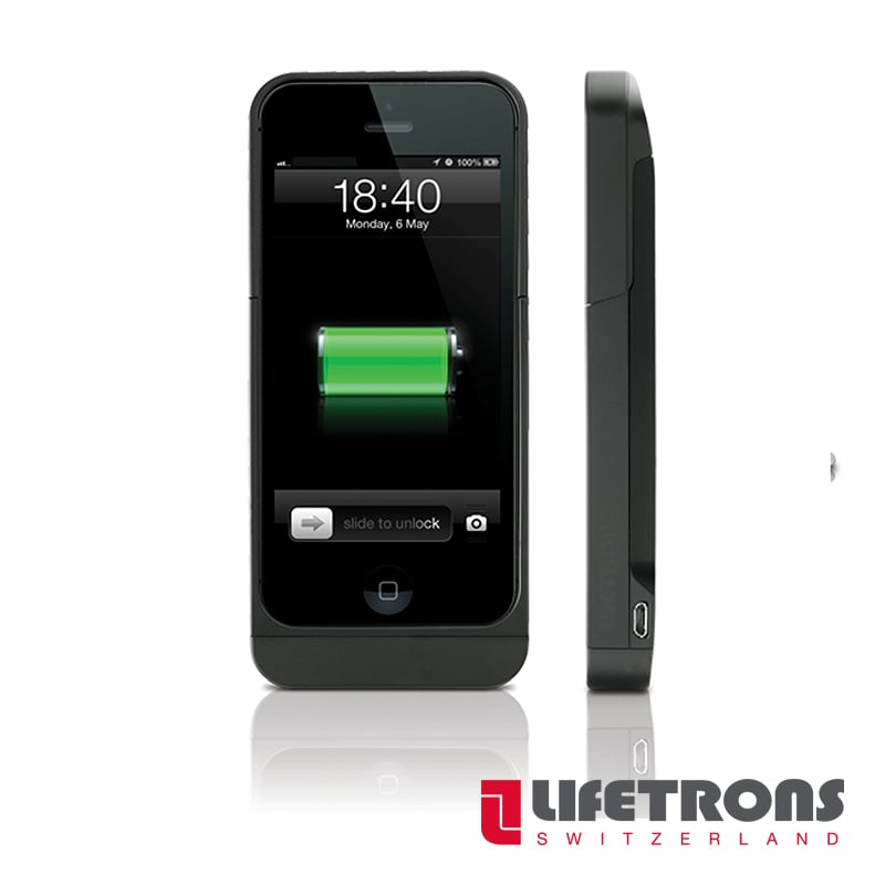 【LIFETRONS】iPhone5 (SE)充電器保護殼(2,300 mAh)
