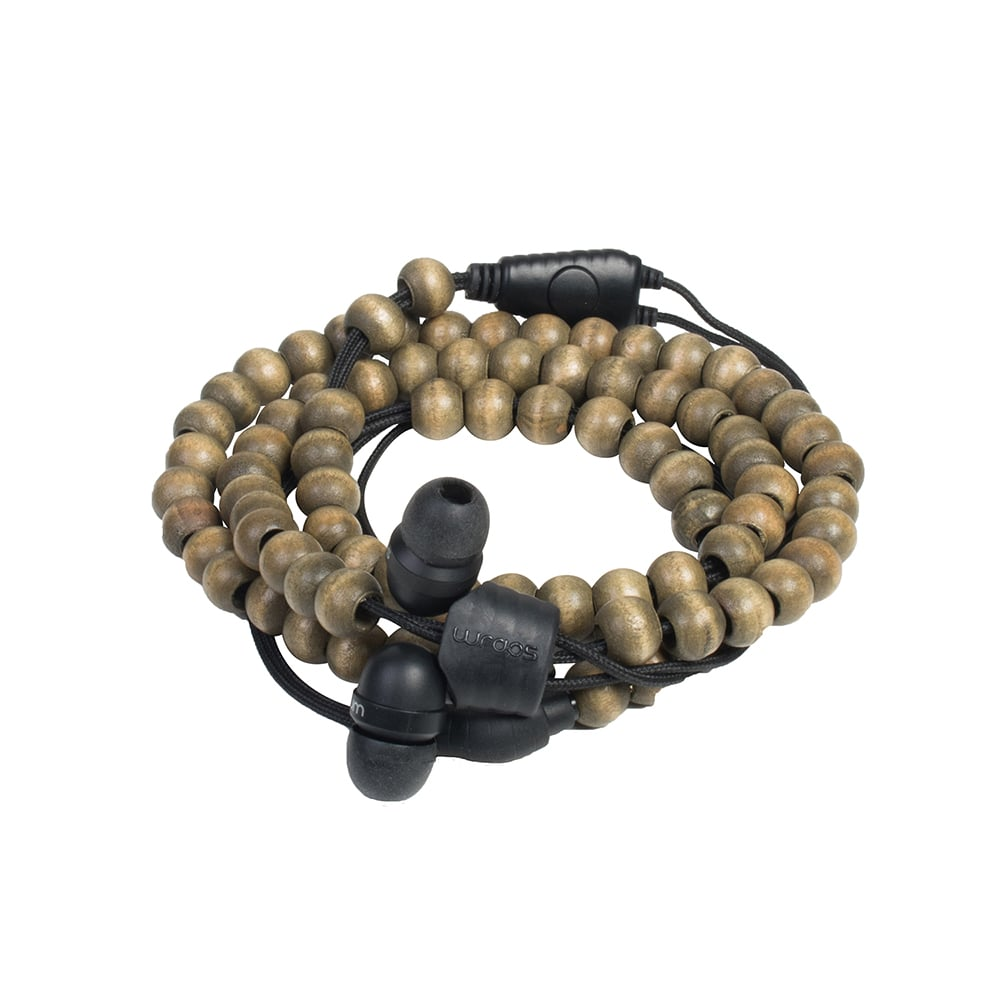 【Wraps】Natural Wristband Headphone 時尚自然系手環耳機- 原木咖