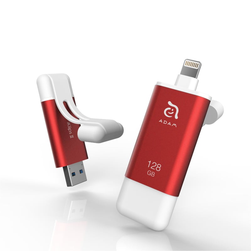 ADAM iKlips II 128GB 蘋果iOS USB3.1雙向隨身碟