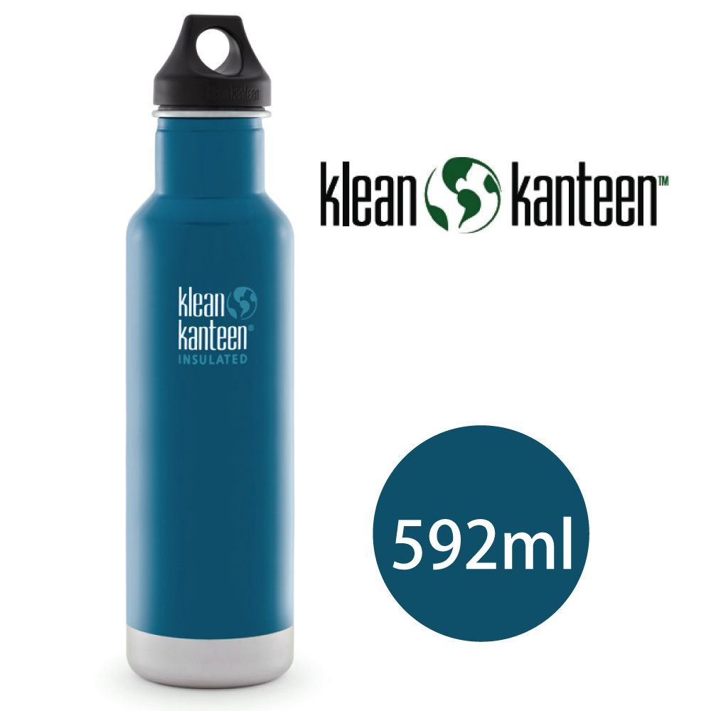 【美國Klean Kanteen】Insulated不鏽鋼保溫瓶592ml_湖泊藍