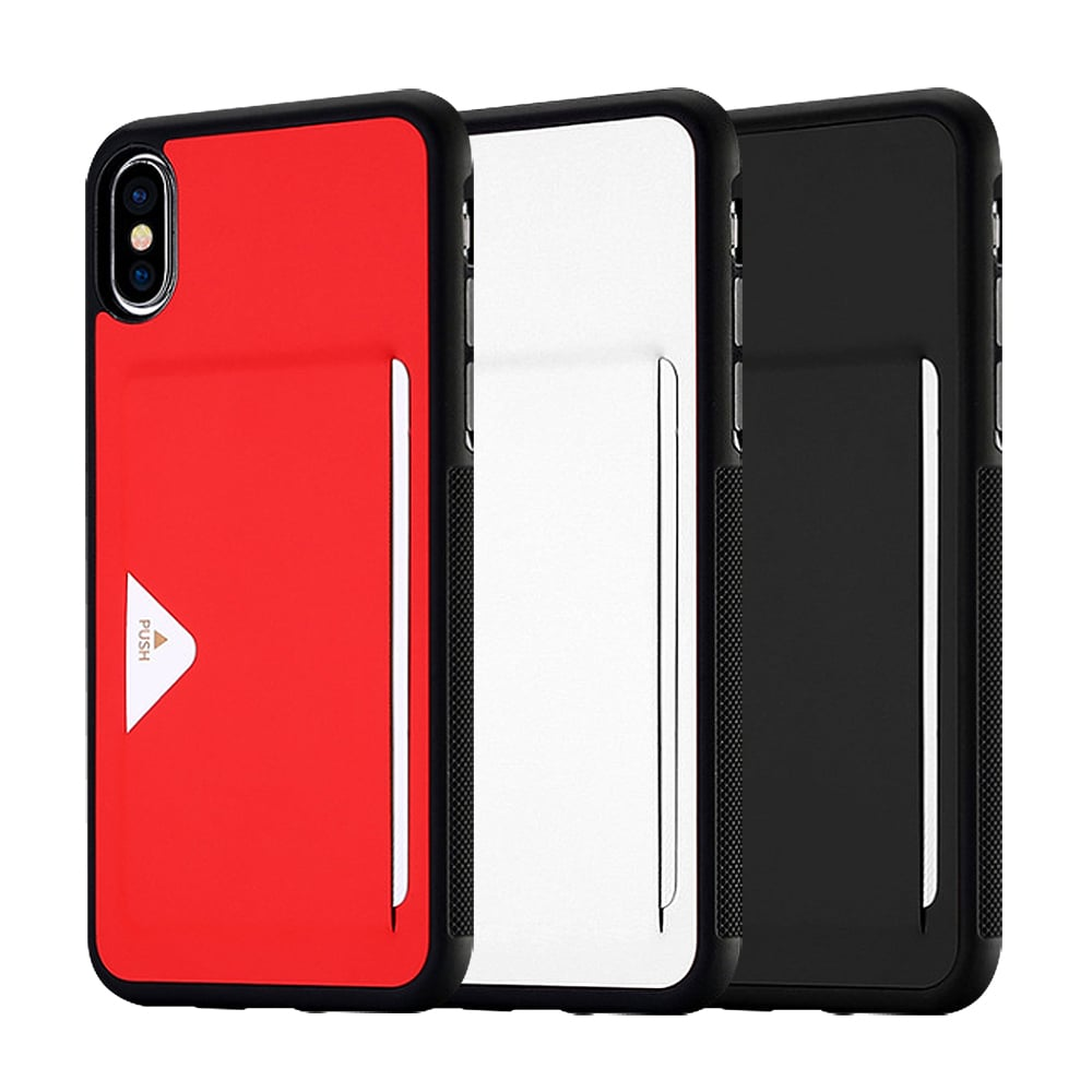 DUX DUCIS Apple iPhone X POCARD 後卡殼(紅色)