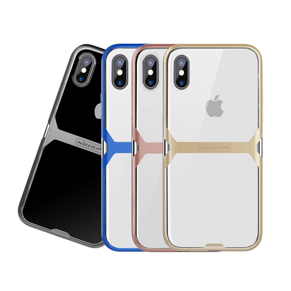 NILLKIN Apple iPhone X 晶盾保護殼(粉色)